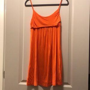 Orange Jersey knit dress